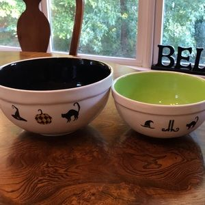 Rae Dunn Hocus Pocus/Trick or Treat Bowls Set of 2